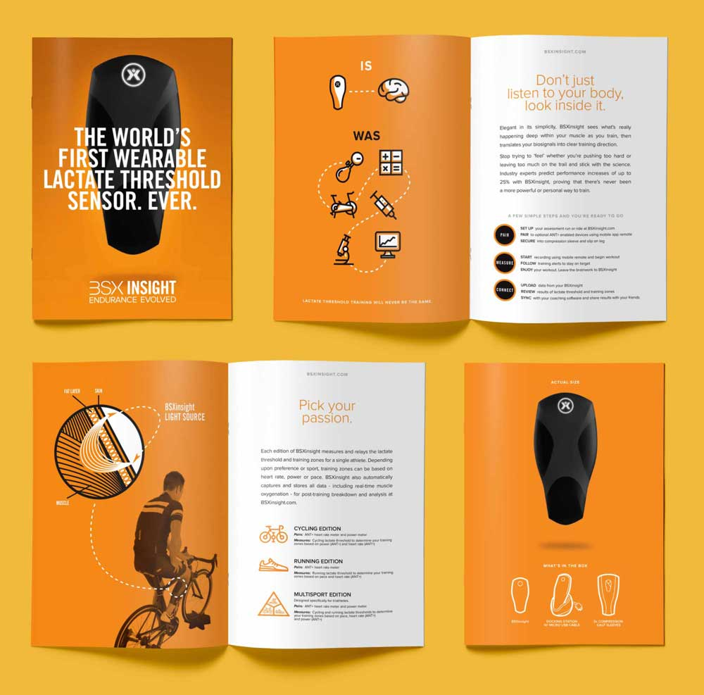sports and technology brochure design and printing