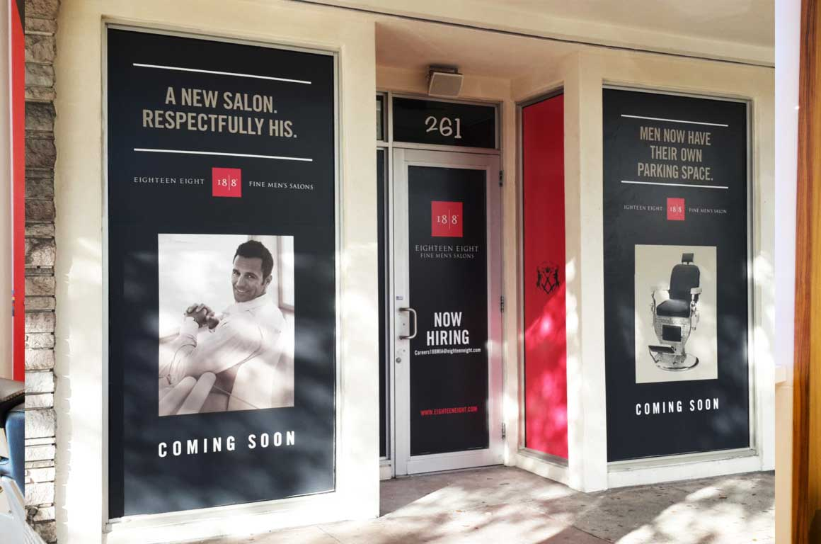 barber shop salon store fronts designed