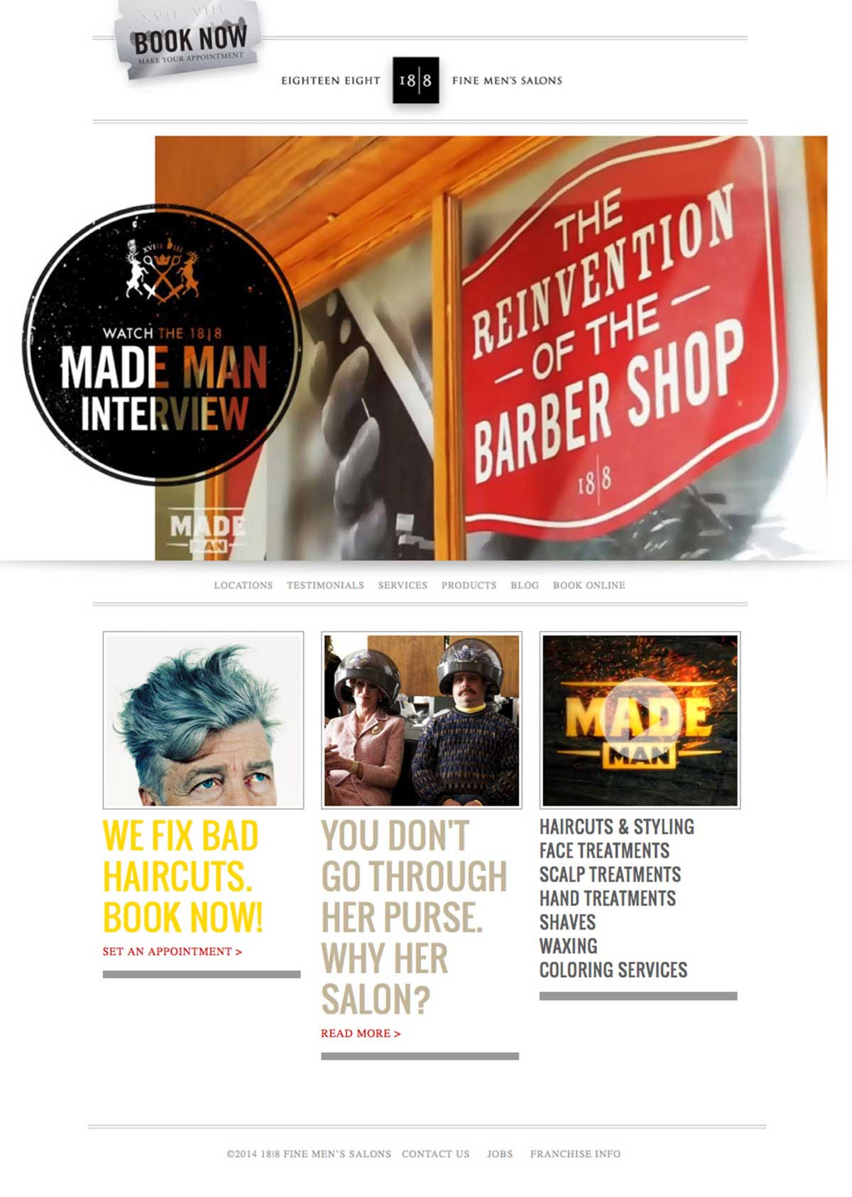 mens barber 18/8 website designs