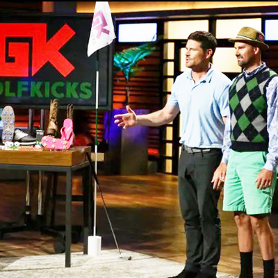 Golf Kicks pitches on SharkTank