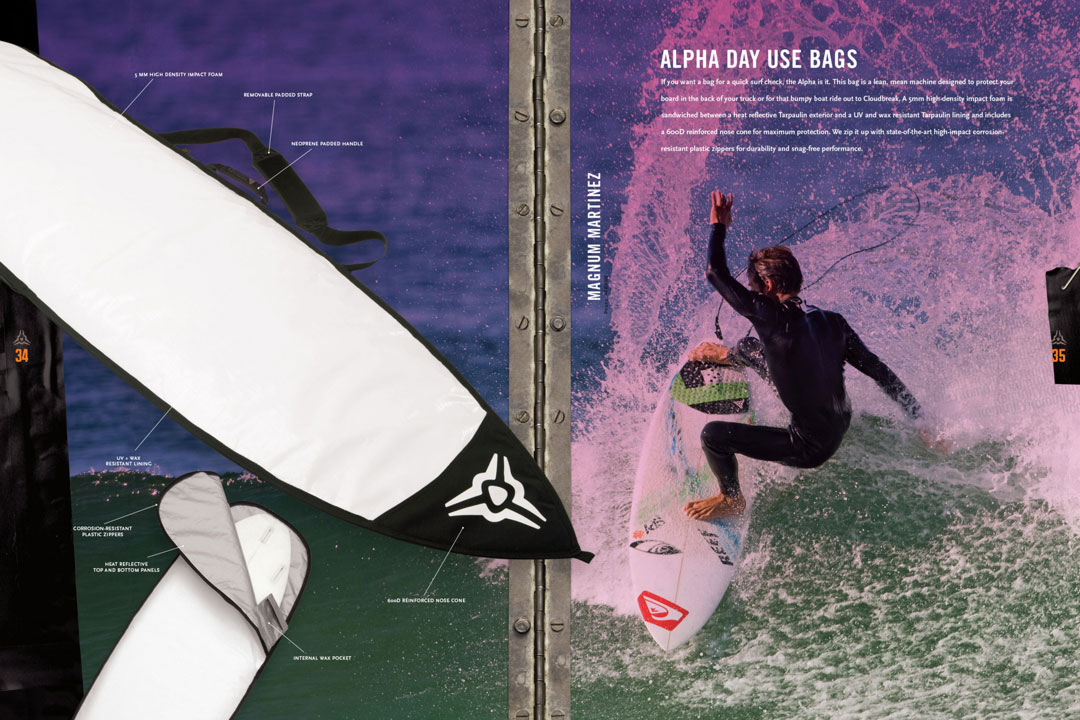 Surf product catalog design examples