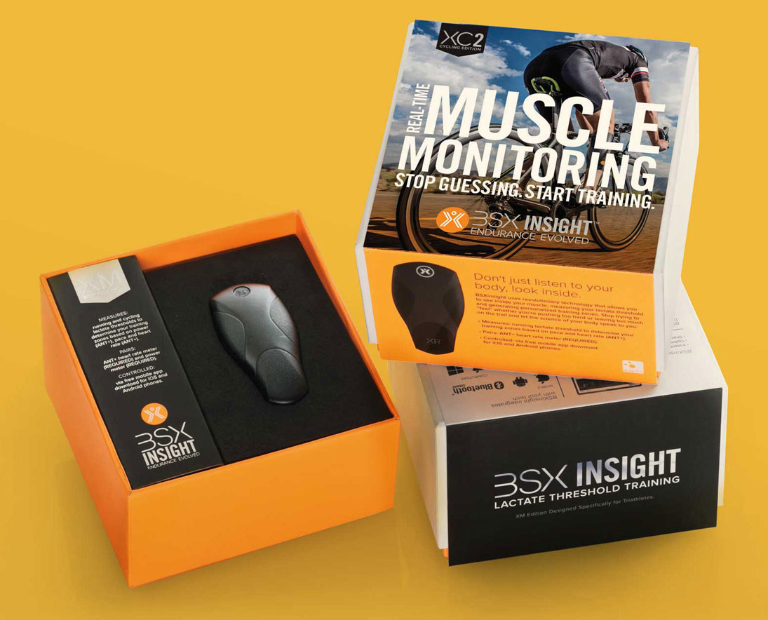 BSX Endurance sports wearable device retail packaging and printing