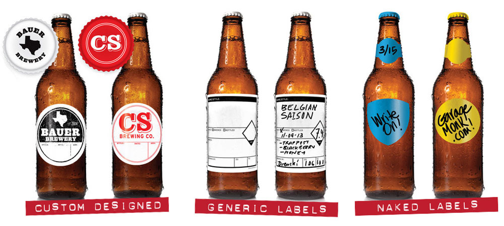GarageMonk.com Homebrewing Label System